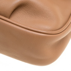 Fendi Light Brown Leather Fendista Pochette Crossbody Bag