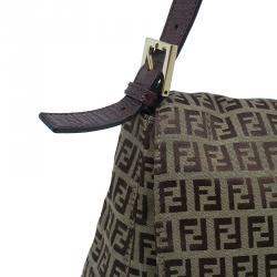 Fendi Brown Zucca Canvas Baguette Bag