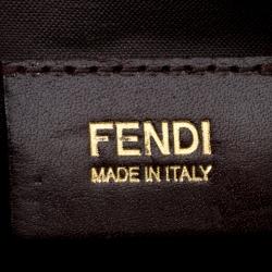 Fendi Burgundy Leather Maxi Baguette Flap Shoulder Bag