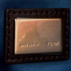 Fendi Red Zucca Fabric Fold Over Clutch