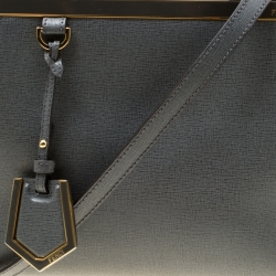 Fendi Grey Saffiano Leather Small 2Jours Top Handle Bag