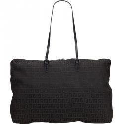 99de5ec4f0a1 Fendi Black Zucchino Canvas Tote Bag