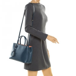 5b7eab038483 Buy Fendi Dove-Grey Leather Petite 2Jours Tote 159903 at best price ...