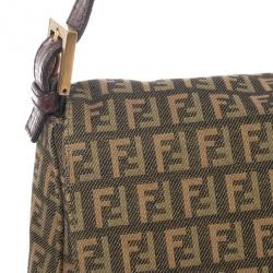 Fendi Multicolour Zucca Big Mamma Flap Bag