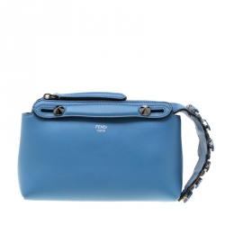 309ed9f45b Fendi Light Blue Crystal Embellished Leather Mini By The Way Crossbody Bag