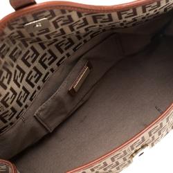 Fendi Beige/Tan Zucchino Canvas and leather Mini Satchel