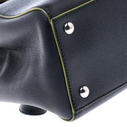 Fendi Black/Green Leather Mini 2Jours Tote