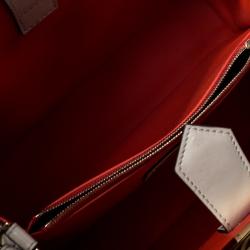 Fendi Cream Leather Mini 2Jours Tote