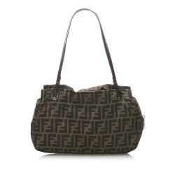 Fendi Black/Brown Zucca Canvas Shoulder Bag
