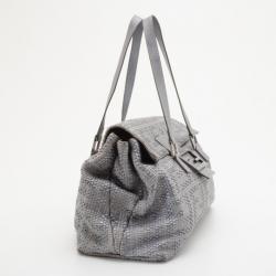 Fendi Big Mama Straw Flap Bag