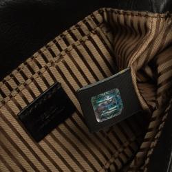 Fendi Black Leather Mini Mia Crossbody Bag