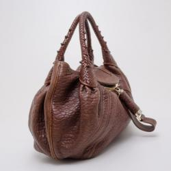 Fendi Cognac Nappa Leather Spy Handbag