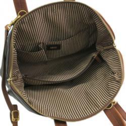 Fendi Tri-Color Leather Chameleon Boston Bag