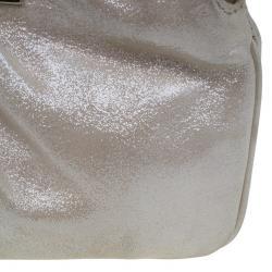 Fendi Gold Leather Logo Clutch
