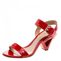 9164e1c45 Buy Tory Burch Red Patent Leather Cecile Block Heel Ankle Strap ...