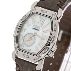 Fendi MOP Stainless Steel Diamond Selleria 8400M Women's Wristwatch 34 MM