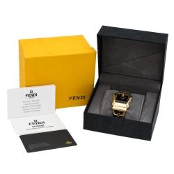 Fendi Black Gold Plated Stainless Steel Canvas B.Fendi 3800G Women's Wristwatch 33 mm