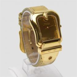Fendi Gold Nougat Leather B Womens Wristwatch 33 MM