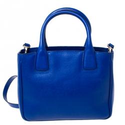 Furla Blue Leather Small Capriccio Tote