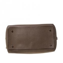 Furla Light Brown Saffiano Leather D-light Satchel