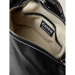 Ganni Black Leather Shoulder Bag