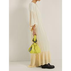 Ganni Yellow Leather Drawstring Bag