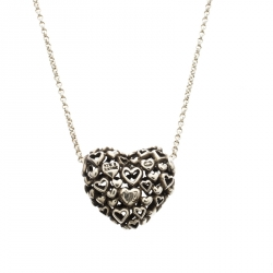 Georg Jensen Multi Heart Silver Pendant Chain Necklace