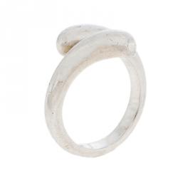 Georg Jensen Silver Bypass Ring Size 52.5