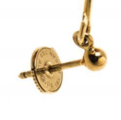 أقراط جورج جينسين ذهب أصفر عيار 18 & جمشت متدلية دو