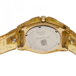 GF Ferre Black Stainless Steel and Rubber Women's Wristwatch 44MM