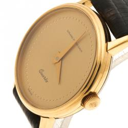 Girard Perregaux Gold Plated Vintage Women's Wristwatch 27 mm