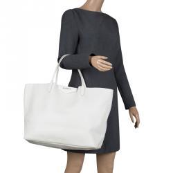 438fe9441a84 Givenchy Off White Leather Large Antigona Shopping Tote