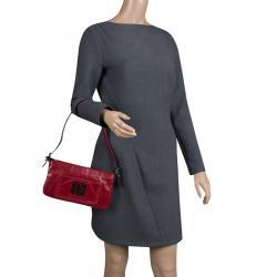 0d6ff0a5bc Givenchy Red Leather Logo Shoulder bag