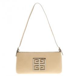 Givenchy Light Beige Leather Logo Shoulder bag