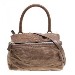 591f8f81f8 Givenchy Brown Leather Medium Pandora Crossbody Bag
