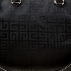 Givenchy Black Signature Nylon and Leather Top Handle Bag