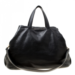 Givenchy Black Crackled Leather Top Handle Bag