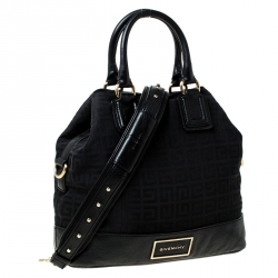 Givenchy Black Monogram Canvas and Leather Tote