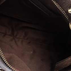 Givenchy Brown Monogram Canvas and Leather Baguette Bag