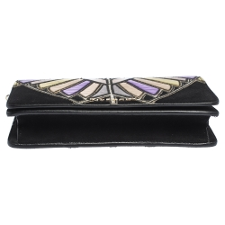 Givenchy Multicolor Leather and Suede Chain Clutch