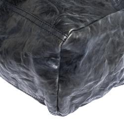 Givenchy Navy Blue Crinkled Leather Large Pandora Bag