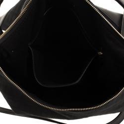 Givenchy Black Canvas and Leather Monogram Shoulder Bag