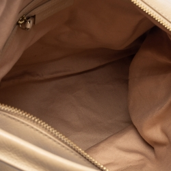Givenchy Beige Leather Double Side Zip Hobo