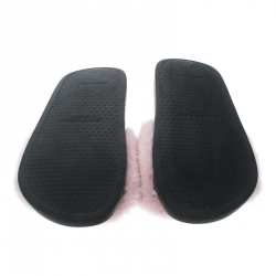 Givenchy Pink Mink Fur Flat Slides Size 38