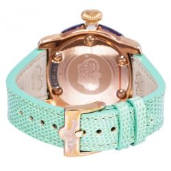 Glam Rock White Gold-Plated Steel Miami GR10529 Women's Wristwatch 46MM