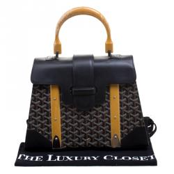 Goyard Brown/Black Coated Canvas and Leather Saigon Top Handle Bag
