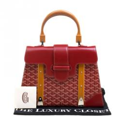 Goyard Red Coated Canvas and Leather Saigon Top Handle Bag