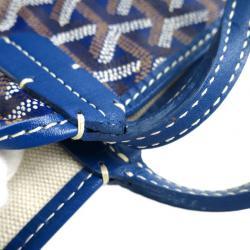 Goyard Blue Canvas Saint Louis Tote PM