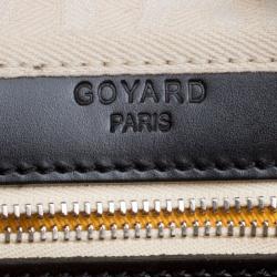 Goyard Black Chevron Coated Canvas Croisiere 40 Satchel