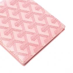 Goyard Pink Coated Canvas Bifold Wallet